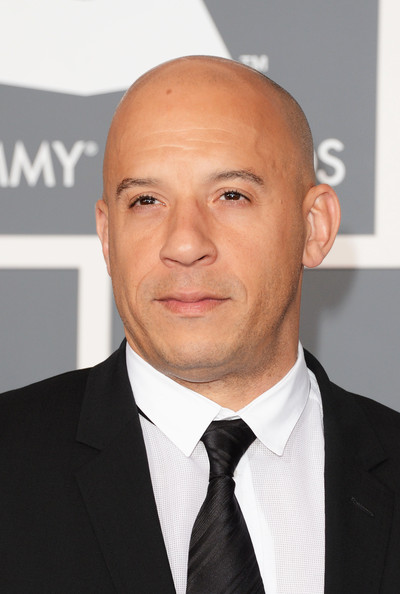 Actor Vin Diesel arrives at the 55th Annual GRAMMY Awards at Staples Center on February 10, 2013 in Los Angeles