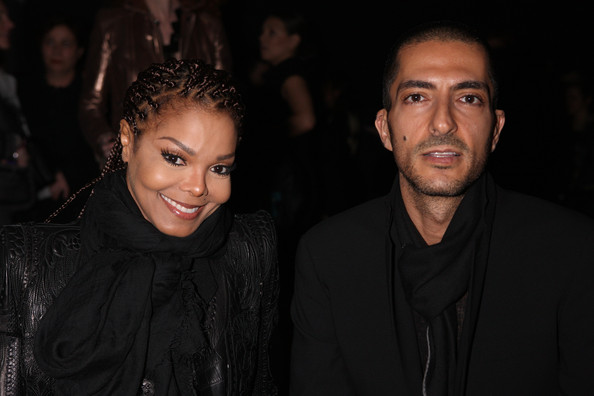 Janet Jackson and Wissam al Mana attend the Sergio Rossi presentation cocktail during Milan Fashion Week Womenswear Fall/Winter 2013/14 on February 21, 2013 in Milan, Italy