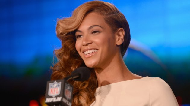 neyonce (at super bowl press conference)