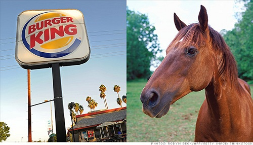 burger king (uses horse meat)