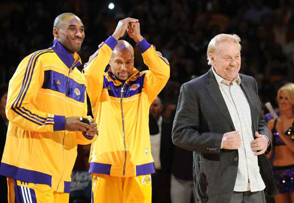 kobe bryant derek fisher & jerry buss