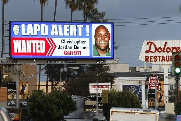christopher dorner (manhunt billboard)