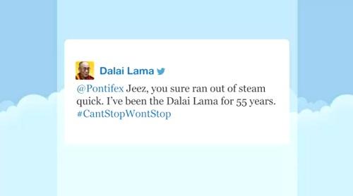 dalai lama tweet