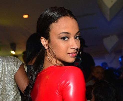 draya michele (red dress with holes)