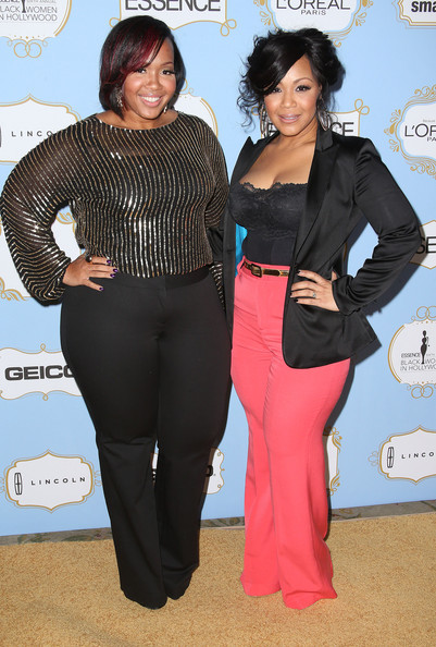 Erica of Mary Mary (R) and her sister/stylist Goo Goo