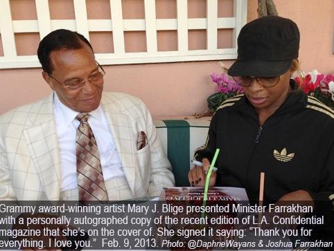 minister farrakhan & mary j blige