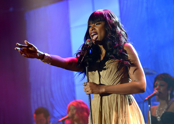 Singer Jennifer Hudson onstage at the 55th Annual GRAMMY Awards Pre-GRAMMY Gala and Salute to Industry Icons honoring L.A. Reid held at The Beverly Hilton on February 9, 2013 in Los Angeles, California.
