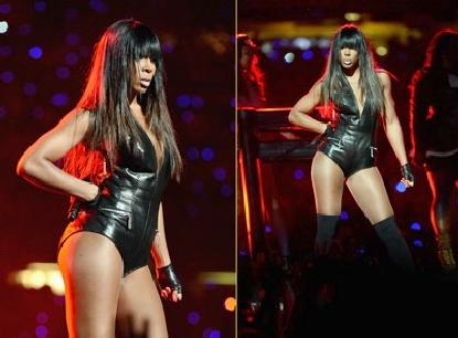 kelly rowland (at super bowl)