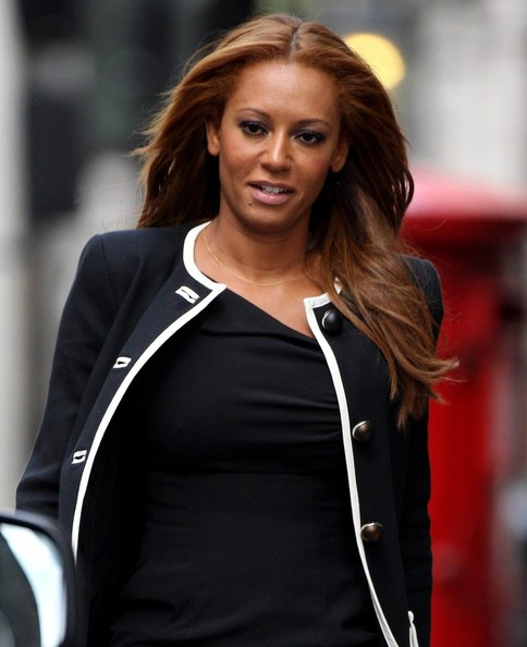 Spice Girl Mel B pictured leaving an office building in London, UK. (February 6, 2013)