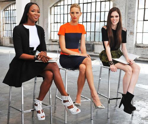 """Naomi Campbell, Karolina Kurkova and Coco Rocha of Oxygen's """"The Face"""""""