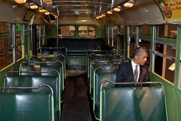 obama rosa parks bus