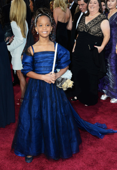 Actress Quvenzhané Wallis arrives at the Oscars at Hollywood & Highland Center on February 24, 2013 in Hollywood