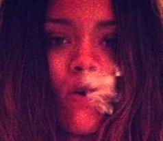 rihanna blowing smoke