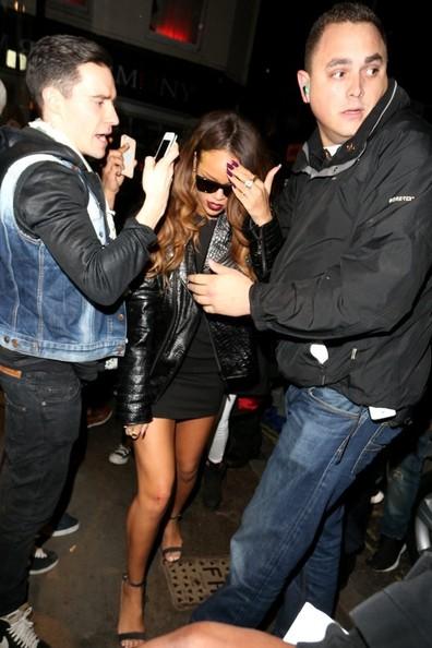 Rihanna and Cara Delevingne leaving The Box Nightclub in Soho, London at around 3:30. (Feb. 17, 2013)