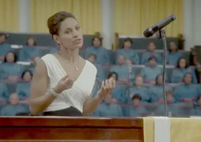 salli richardson whitfield (in pulpit)
