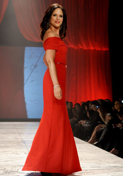 Journalist Soledad O'Brien walks the runway at The Heart Truth 2013 Fashion Show at Hammerstein Ballroom on February 6, 2013 in New York City