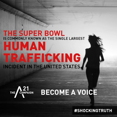 sex trafficking (at super bowl )