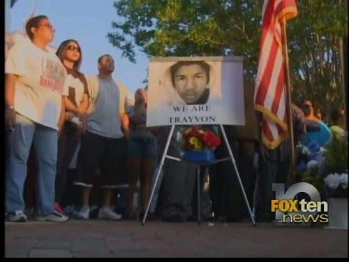 trayvon martin vigil