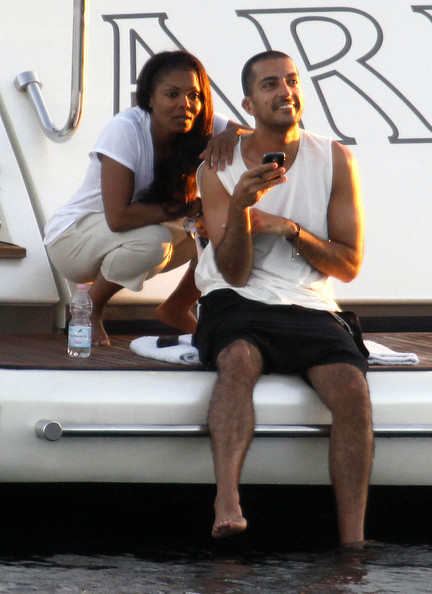 Singer Janet Jackson is currently on vacation with her boyfriend Wissam Al Mana in Porto Cervo, Sardinia. (July 20, 2012