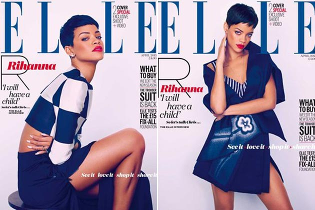 Rihanna's two Elle UK covers