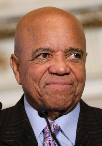 Record producer and founder of Motown Records Berry Gordy speaks onstage after receiving the Unity Globe Award during The 16th Annual Wall Street Project Economic Summit - Day 1 at The Roosevelt Hotel on January 31, 2013 in New York City