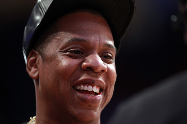 Jay-Z smiles before the 2013 NBA All-Star game at the Toyota Center on February 17, 2013 in Houston