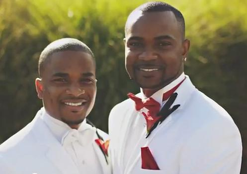 male gay couple marry