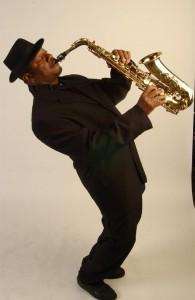 Saxophonist Mekiek Reuben.