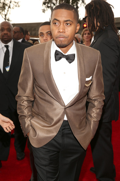 Hip-Hop artist Nas attends the 55th Annual GRAMMY Awards at STAPLES Center on February 10, 2013 in Los Angeles