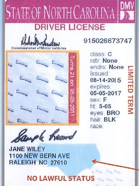 nc immigrant driver license
