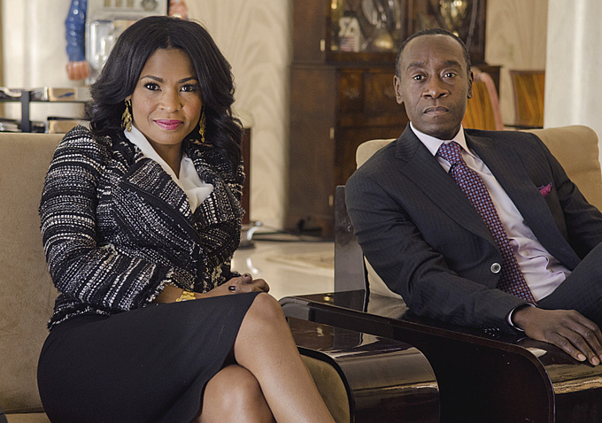 "Nia Long and Don Cheadle in Showtime's ""House of Lies"""