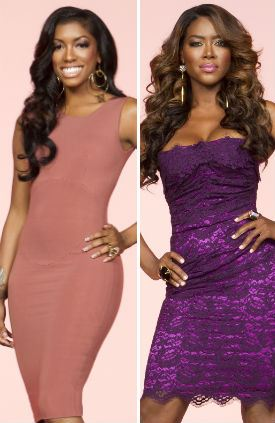 Porsha Williams (L) and Kenya Moore
