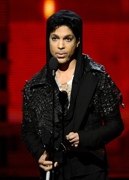 Prince speaks onstage at the 55th Annual GRAMMY Awards at Staples Center on February 10, 2013 in Los Angeles