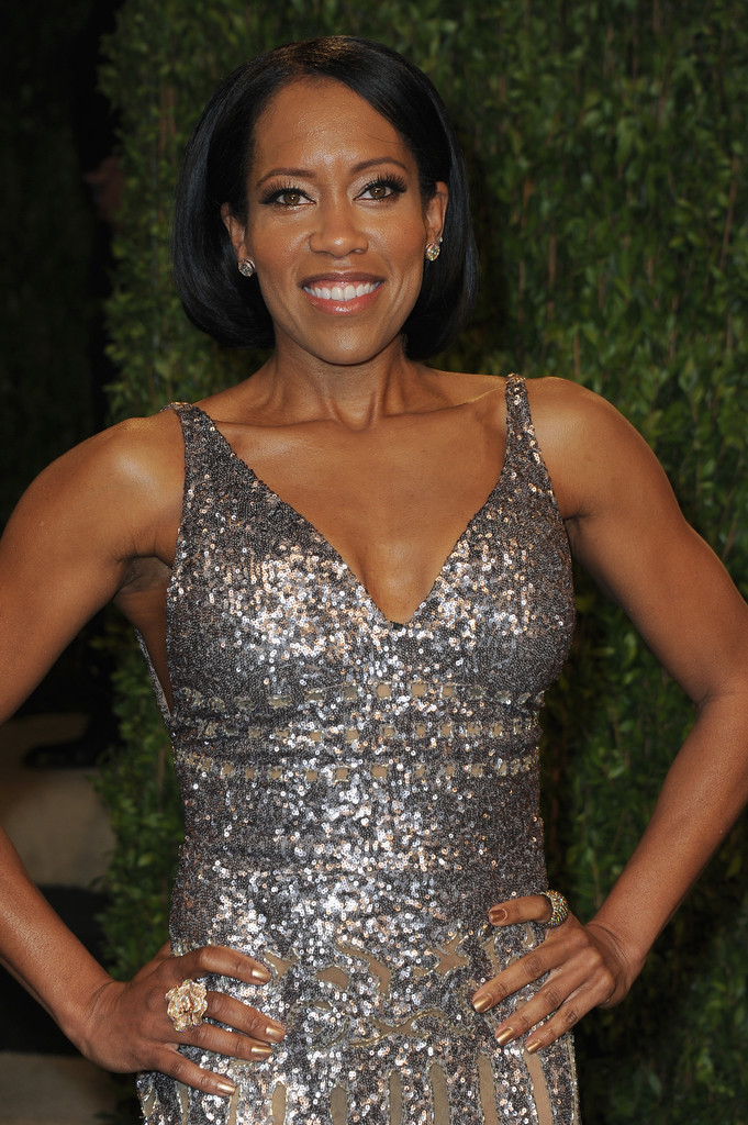 Actress Regina King arrives at the 2013 Vanity Fair Oscar Party hosted by Graydon Carter at Sunset Tower on February 24, 2013 in West Hollywood