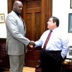 Shaq and NJ Gov. Chris Christie Plan to Work Together