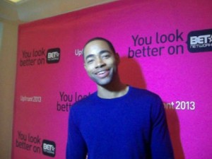 """Jay Ellis star of BET's """"The Game"""" at their Los Angeles Upfront Presentation of programming. (photo credit: Eunice Moseley)"""