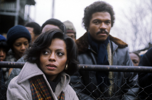 Diana Ross and Billy Dee Williams on set of Mahogany, 1975