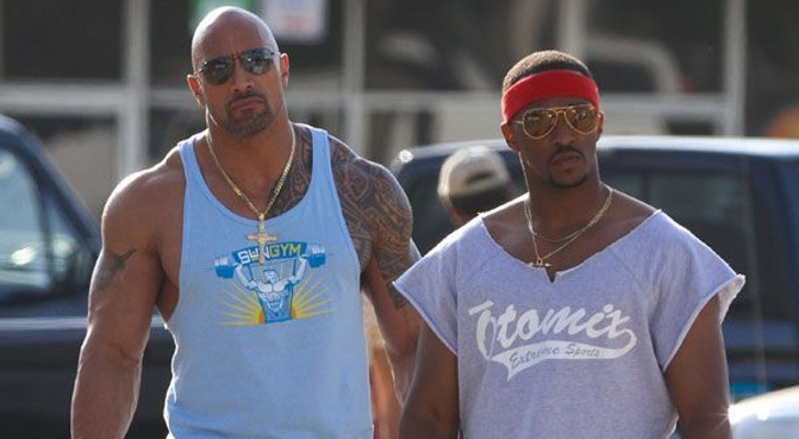 """Dwayne Johnson and Anthony Mackie in """"Pain & Gain"""""""