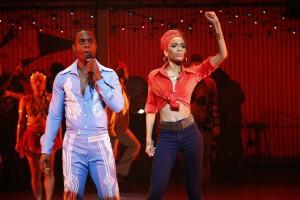 Michelle Williams and Adesola Osakalumi star in Fela! national tour 2013