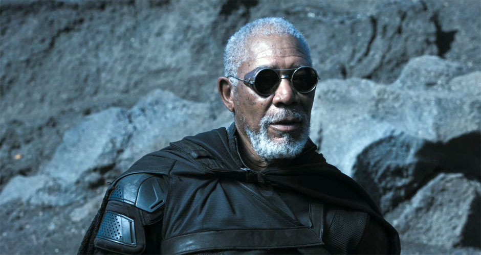 "Morgan Freeman in ""Oblivion"""