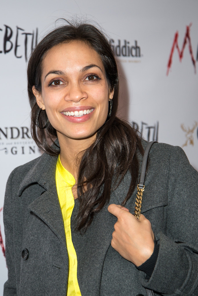 "Rosario Dawson attends the after party for the Broadway opening night of ""Macbeth"" at Hudson Terrace on April 21, 2013 in New York City"