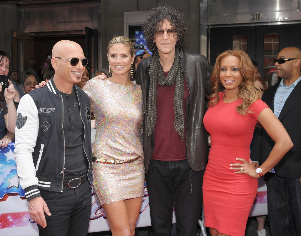 "(L-R) ""America's Got Talent"" judges Howie Mandel, Heidi Klum, Howard Stern and Mel B attend the ""America's Got Talent"" Season 8 Meet The Judges Red Carpet Event at Hammerstein Ballroom on April 9, 2013 in New York City"