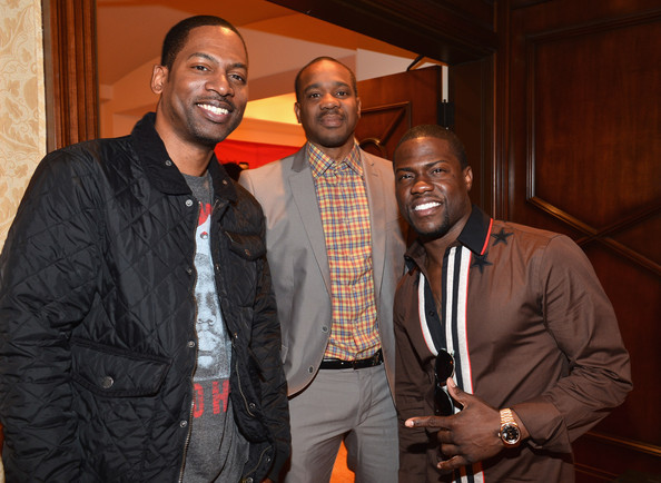 Comedian Tony Rock, actor Duane Martin and actor Kevin Hart attend the BET Networks' 2013 Los Angeles Upfront at Montage Beverly Hills on April 2, 2013 in Beverly Hills