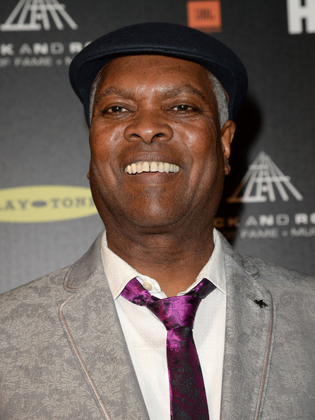 Musician Booker T. Jones poses in the press room at the 28th Annual Rock and Roll Hall of Fame Induction Ceremony at Nokia Theatre L.A. Live on April 18, 2013 in Los Angeles