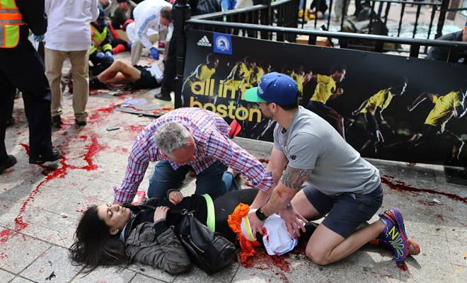 boston bombing (female bloodied)