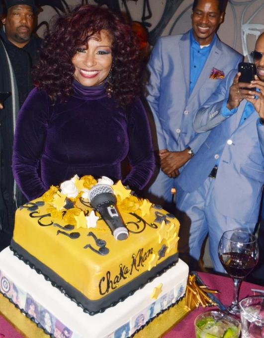 chaka khan & bday cake