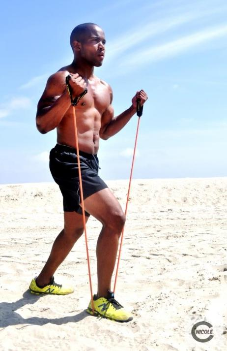 cory haywood (on beach excersing)