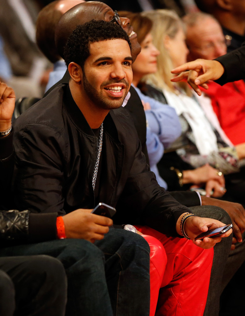 Rapper Drake attends the Foot Locker Three-Point Contest part of 2013 NBA All-Star Weekend at the Toyota Center on February 16, 2013 in Houston
