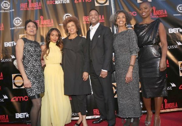 Shola Lynch, Jada Pinkett Smith, Angela Davis, Will Smith, Fania Davis Jordan, Sidra Smith