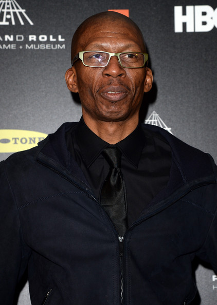 Inductee Hank Shocklee of Public Enemy poses in the press room at the 28th Annual Rock and Roll Hall of Fame Induction Ceremony at Nokia Theatre L.A. Live on April 18, 2013 in Los Angeles